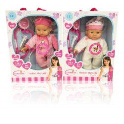Műanyag babák - Játékbaba orvosi szettel funkciós