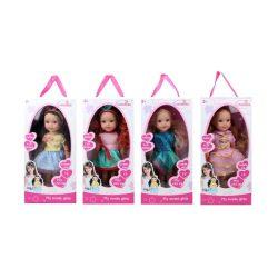 Műanyag babák - Játék hajasbaba 4 féle