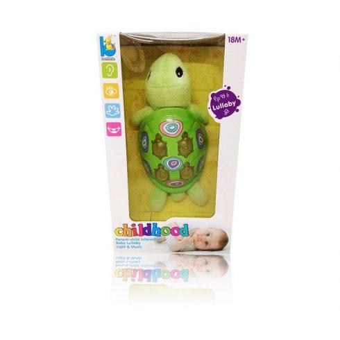 Fejlesztő játékok - Plüss teknős babáknak - Funkciós