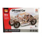 Építőjátékok gyerekeknek - Fém építőjáték, Off-road autó, 253 db-os