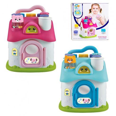 Fejlesztő játékok - Formabedobó játék házikó babáknak fiús vagy lányos