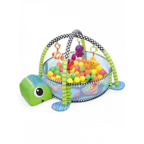 Baba játékok - Játszószőnyeg, és labdatenger babáknak 2in1 felakasztható játékokkal