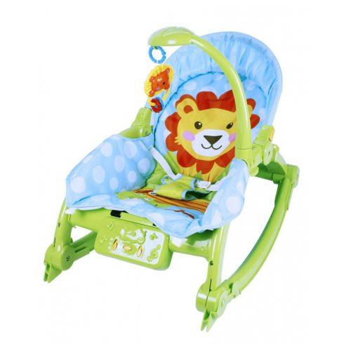 Fejlesztő alvást segítő játékok babáknak - Baby Care Rocking Chair Pihenőszék lámpával, zenével