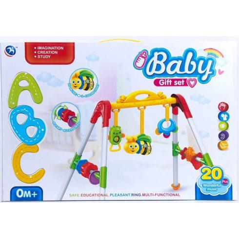 Zenélő fejlesztő játékok babáknak - Baby Gift set Baba játék - Trapéz 20 zenével