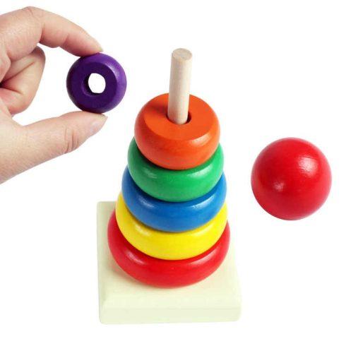 Fa montesszori készségfejlesztő játék finommotorikus fejlesztő