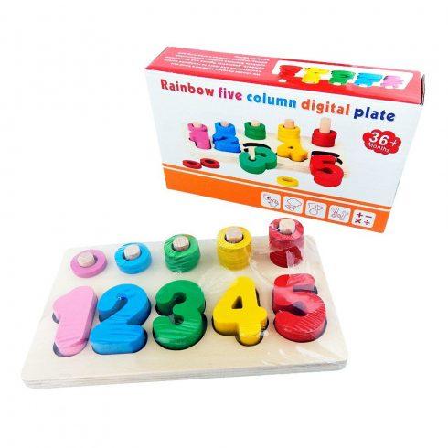Oktató, fejlesztő játékok - fa kirakós játék