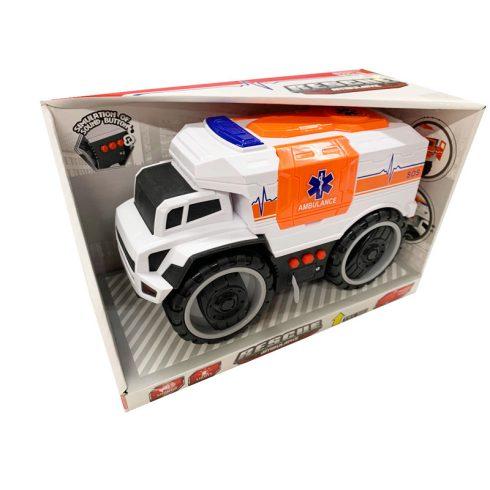 Műanyag járművek - Rescue Ambulance Mentőautó