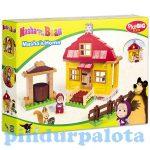 Építőjátékok gyerekeknek - Műanyagból - Mása és a Medve háza PlayBIG Bloxx
