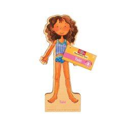 Öltöztetős játékok - Fa mágneses öltöztethető baba Violet TS Shure