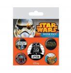 Ajándékok gyerekeknek - Star Wars kitűző