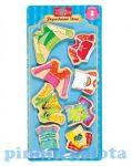 Öltöztetős játékok - Fa mágneses öltöztethető baba kiegészítő nagy vidám ruha szett TS-Shure