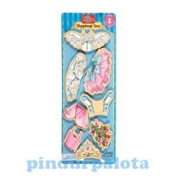 Öltöztetős játékok - Fa mágneses öltöztethető baba kiegészítő nagy balerina ruhaszett TS-Shure