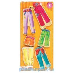 Öltöztetős játékok - Fa mágneses öltöztethető baba kiegészítő nadrágok ruha szett TS-Shure