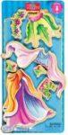 Öltöztetős játékok - Fa mágneses öltöztethető baba kiegészítő ruhaszett hercegnő TS-Shure
