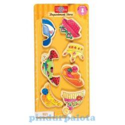 Öltöztetős játékok - Fa mágneses öltöztethető baba kiegészítő nagy sapka ruha szett TS-Shure