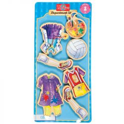 Öltöztetős játékok - Fa mágneses öltöztethető baba kiegészítő foglalkozások nagy ruhaszett TS-Shure