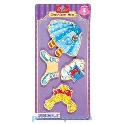 Öltöztetős játékok - Fa mágneses öltöztethető baba kiegészítő mesebeli balerina ruha szett TS-Shure