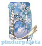 Jelmezek - Jelmez kiegészítők - Jelmez kiegészítő szett jogar+tiara+fonott copf