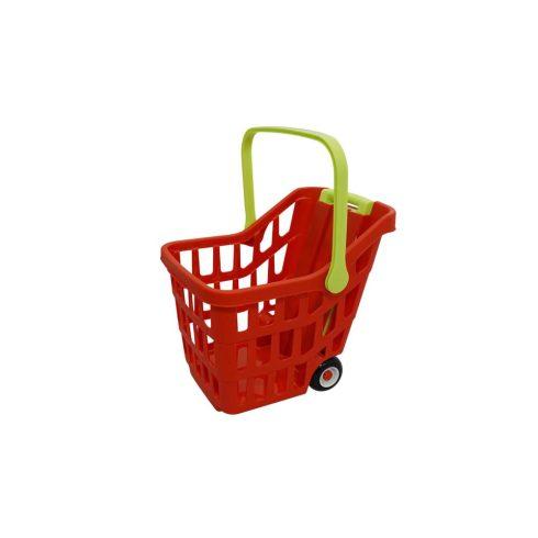 Lányos játékok - Bevásárlókocsi kihúzható fogóval több színben