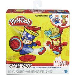 Gyurmák - Play-Doh Marvel: Vasember és Amerika kapitány tégelyfej szett