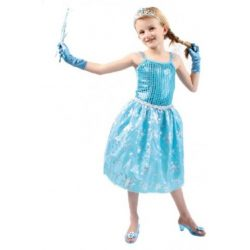 Jelmezek - Kék hercegnő jelmez 6-7 éves gyerekeknek