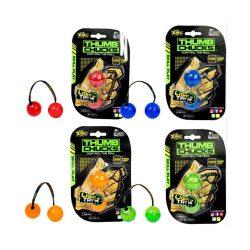 Ügyességi játékok - Thumb chucus pörgethető ügyességi játék világítós zöld