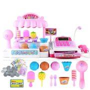 Játék konyhák - Edények - Játék élelmiszerek - Fagylaltos stand pénztárgéppel Ice Cream Store Regist