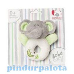 Baba játékok - Elefántos plüss csörgő