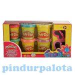 Gyurmák - Play-Doh, Csillámos gyurmaszett, 6 szín 2 forma