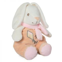 Alvó barátok - Bébijátékok - Csörgők - Artesavi - Plüss csörgős nyuszi, rózsaszín sállal