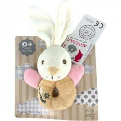 Csörgők kisbabáknak - Csörgős baby nyuszi rózsaszín Artesavi