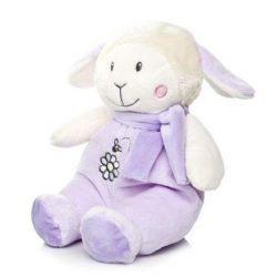 Csörgők kisbabáknak - Plüss bébi bárány csörgős lila nagy Artesavi