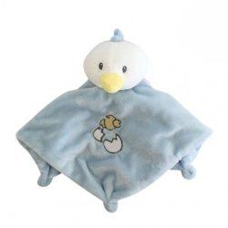 Alvókák - Alvó barátok - Bébijátékok - Plüss bébi kacsa kendő kék Artesavi