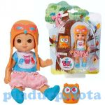 Műanyag babák - Mini Chow baba bagollyal
