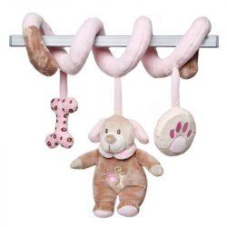 Baby játékok és kellékek - Lógós kutya csörgős plüss