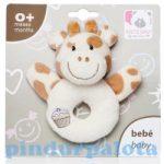 Bébijátékok- Csörgők- Zsiráf plüss csörgő babáknak
