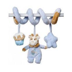 Baby játékok és kellékek - Lógós boci csörgős plüss játék kék