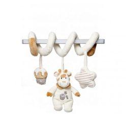 Csörgők kisbabáknak - Baba csörgős plüss játék lógós zsiráf barna Artesavi