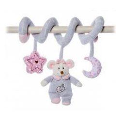 Csörgők kisbabáknak - Plüss bébi egér csörgő spirálos rózsaszín Artesavi