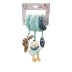 Csörgők kisbabáknak babakocsira - Plüss bébi játék, csibés, csörgő spirálos, kék, Artesavi