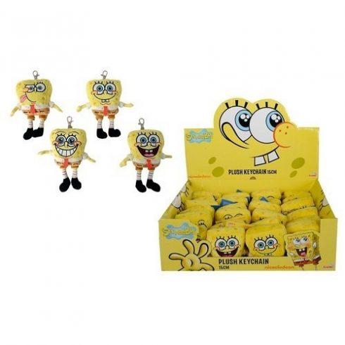 Plüss mesefigurák - Plüss mesehősök - Spongyabob és barátai plüss figura Spongyabob 15cm