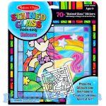 Kreatív Hobby - Dekorációk - Ólomüveg képkészítő készlet unikornis - Melissa & Doug