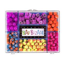 Fűzős játékok gyerekeknek - Gyöngyök - Fa golyók - Bead Bazaar Gyöngy csokor - csillám