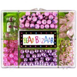 Fűzős játékok gyerekeknek - Gyöngyök - Fa golyók - Bead Bazaar Gyöngy csokor - rózsaszirom