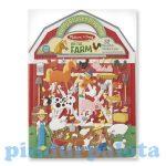 Matricák gyerekeknek - Melissa & Doug Kreatív játék Pufi matrica készlet farm