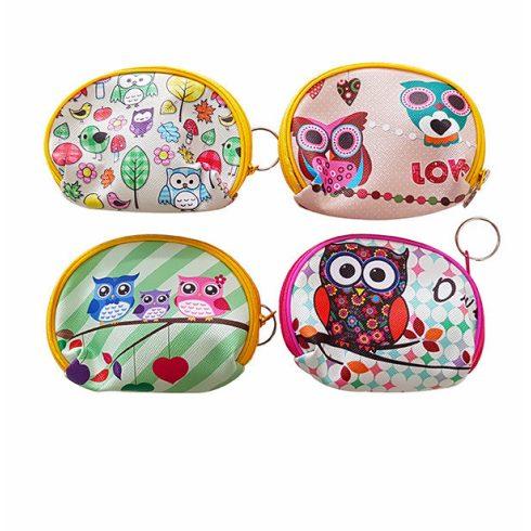 Ajándékok divatos termékek gyerekeknek -Pénztárca baglyos, íves alakú