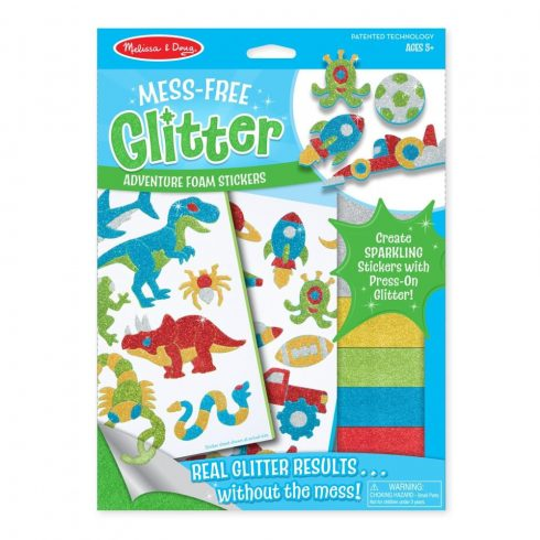 Rajzkészség fejlesztő játékok - Melissa & Doug Kreatív játék, Glitter pufi matrica készítő, kaland