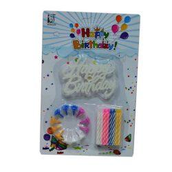 Szülinapi torta gyertyák - Születésnapi színes gyertya 16 db, tartóval