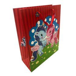 Ajándék tasakok - Díszzacskók - Ünnepi csomagolások ajándékokhoz - Ajándéktasak lovacskás