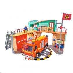 Sam a tűzoltós játékok - Sam a tűzoltó Tűzoltóállomás figurával Simba Toys